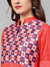Load image into Gallery viewer, Red Embroidered Kurta