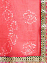 Load image into Gallery viewer, Red Hand Dyed Chiffon Saree