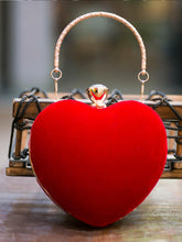 Load image into Gallery viewer, Red Heart Shaped Clutch