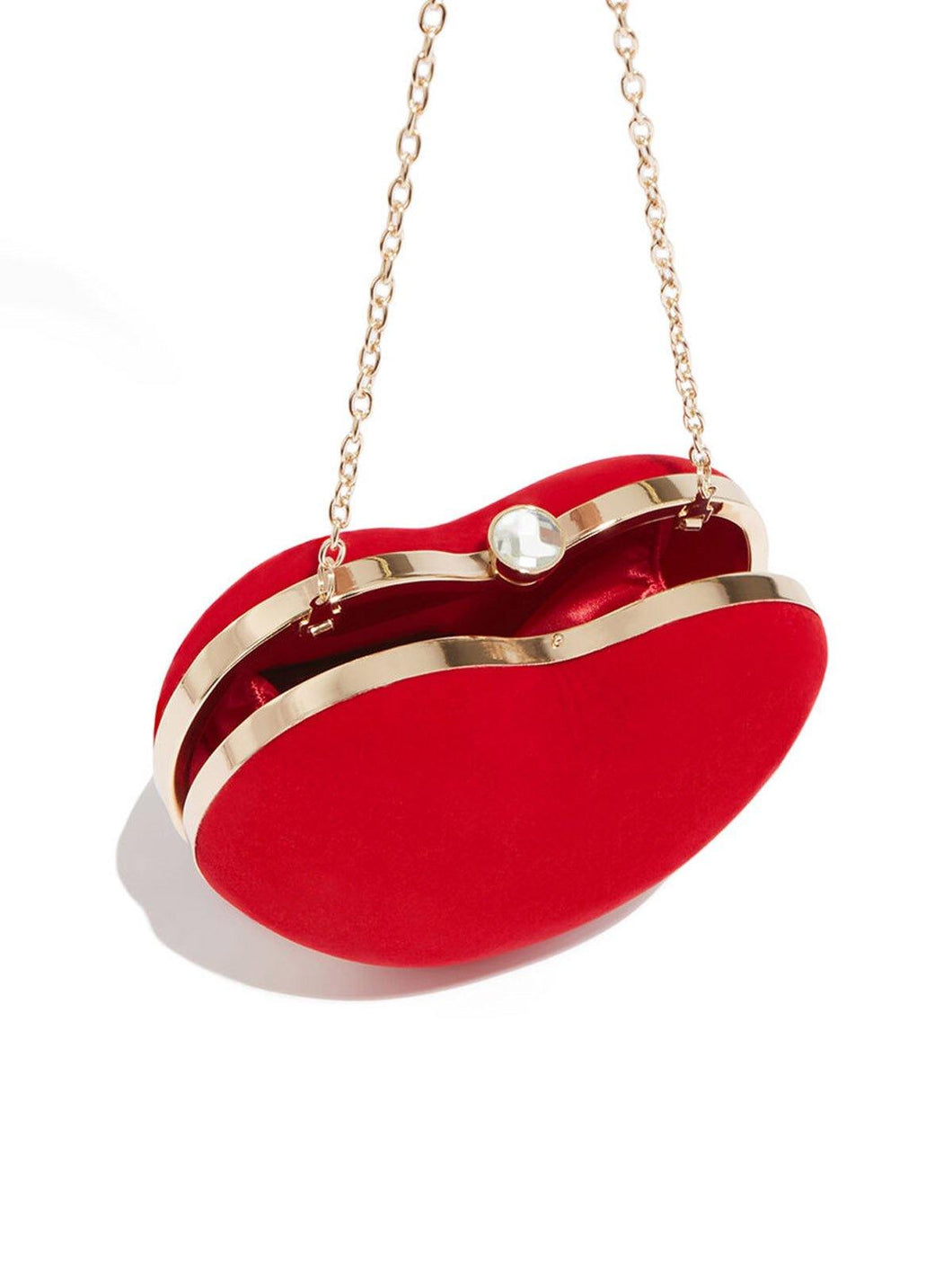 Red Heart Shaped Clutch