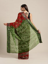 Load image into Gallery viewer, Red Jacquard Silk Zari Saree