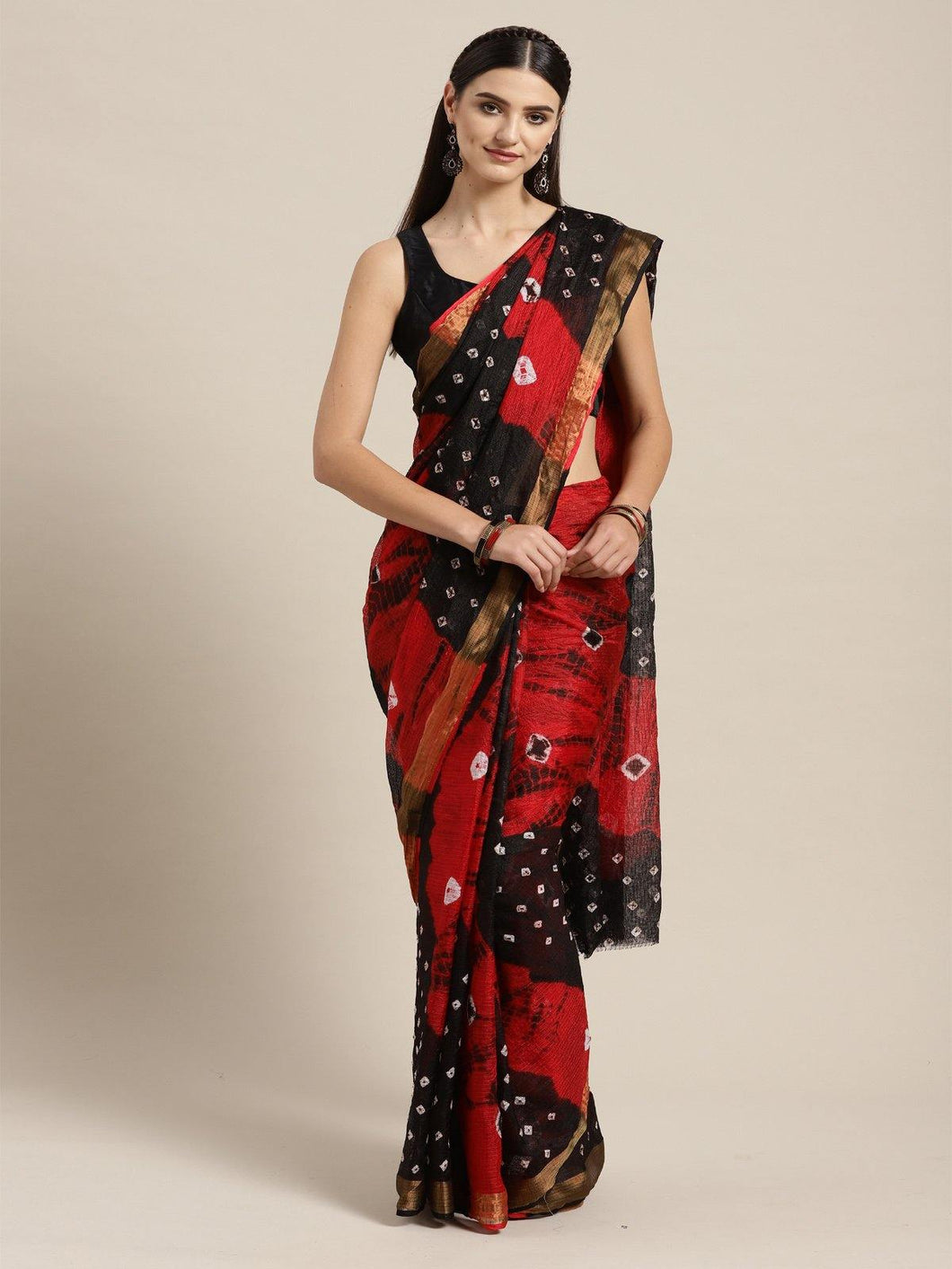 Red Kota Doriya Saree - The Wedding Brigade