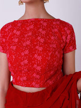 Load image into Gallery viewer, Red Ruffle Saree