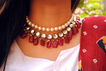 Load image into Gallery viewer, Red Semi Precious Necklace