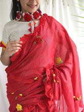 Load image into Gallery viewer, Red Shimmer Saree