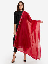 Load image into Gallery viewer, Red Solid Dupatta