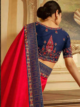 Load image into Gallery viewer, Red Solid Saree - The Wedding Brigade