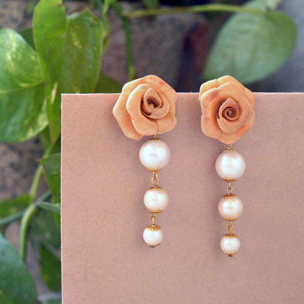 Rosy Day Earrings - The Wedding Brigade