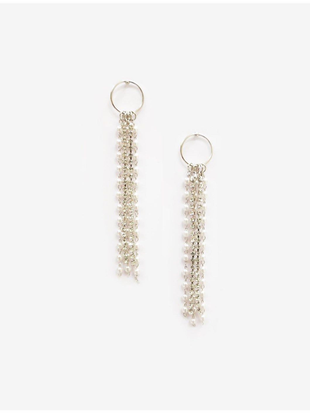 Silver Tassel Earrings - The Wedding Brigade