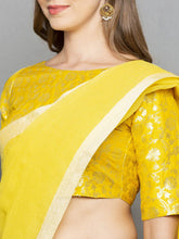 Load image into Gallery viewer, Solid Yellow Saree - The Wedding Brigade