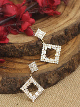Load image into Gallery viewer, Square Shaped Drop Earrings - The Wedding Brigade