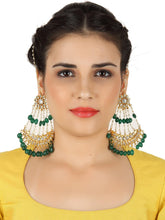 Load image into Gallery viewer, The Big Jhoomar Earrings-Green