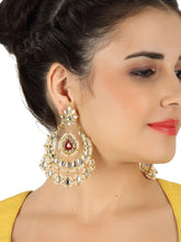 Load image into Gallery viewer, The Evergreen Kundan Earrings