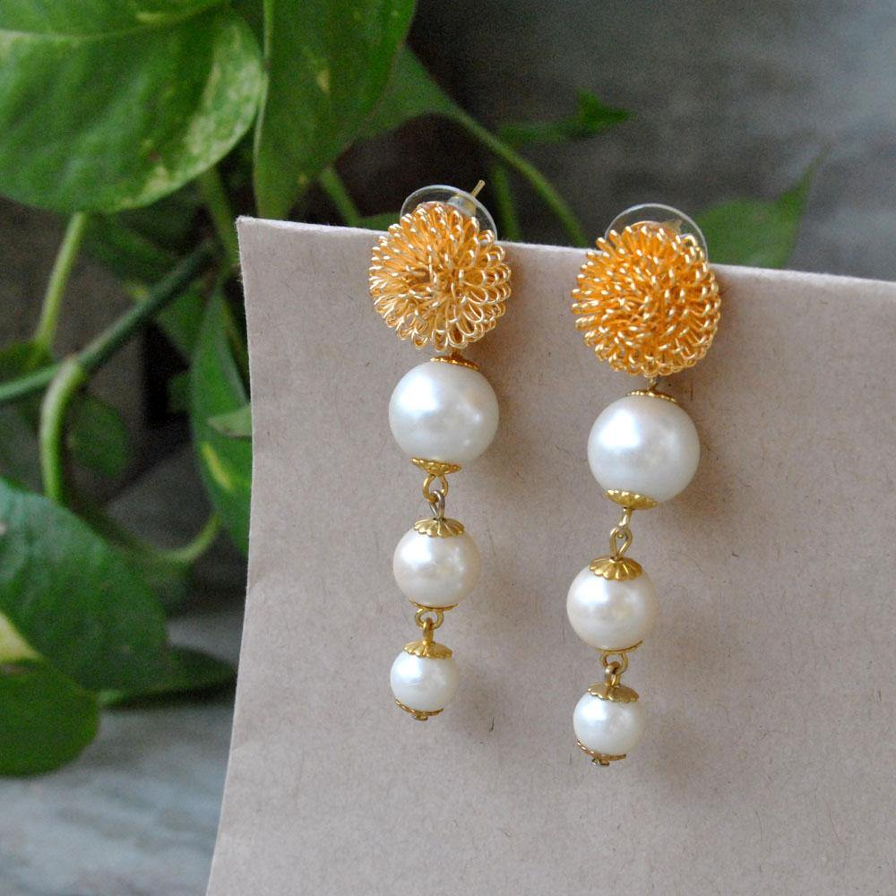 The Golder Porcuping Earrings - The Wedding Brigade