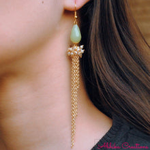 Load image into Gallery viewer, The Green Cascade Earrings - The Wedding Brigade
