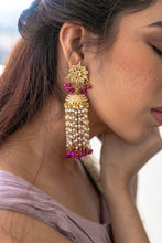 Load image into Gallery viewer, The Saira Earrings-Magenta-1