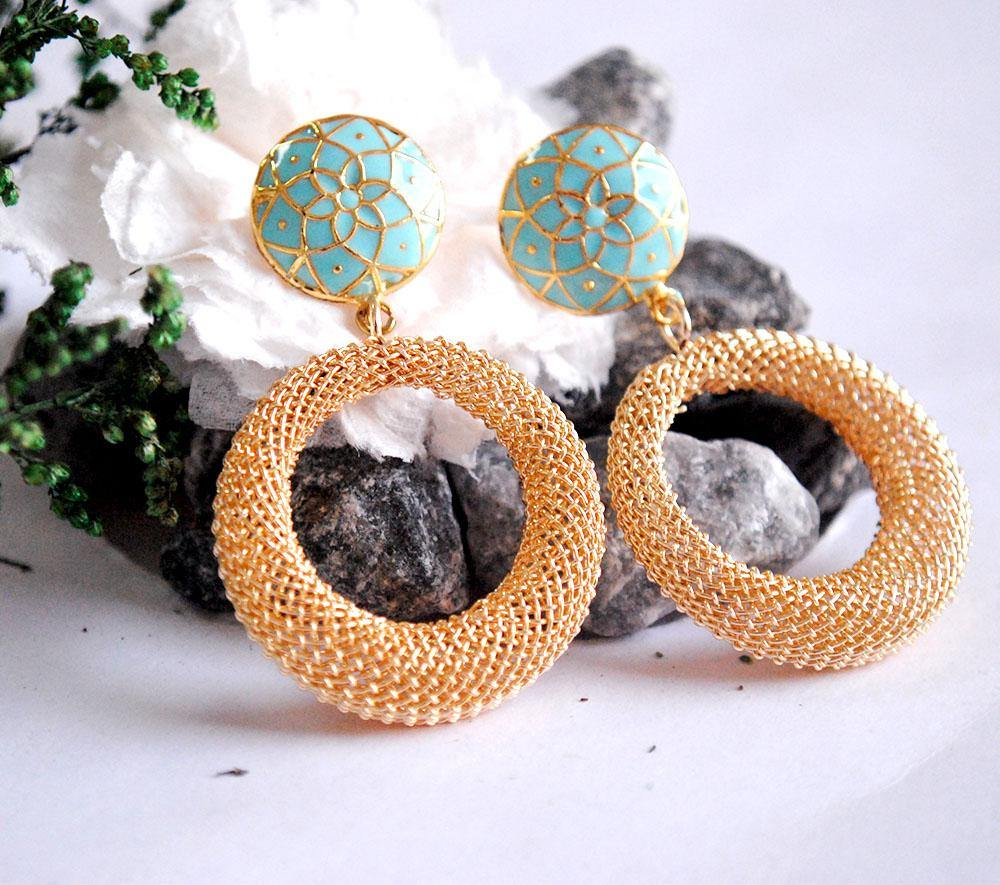 Turquoise Treasure Earrings - The Wedding Brigade