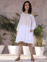 Load image into Gallery viewer, White Cold Shoulder Dress