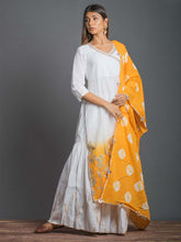 Load image into Gallery viewer, White & Yellow Kurta Sharara Set - The Wedding Brigade