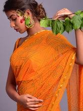 Load image into Gallery viewer, Yellow Bandhej Saree with Blouse