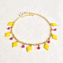 Load image into Gallery viewer, Yellow Enamel Anklet