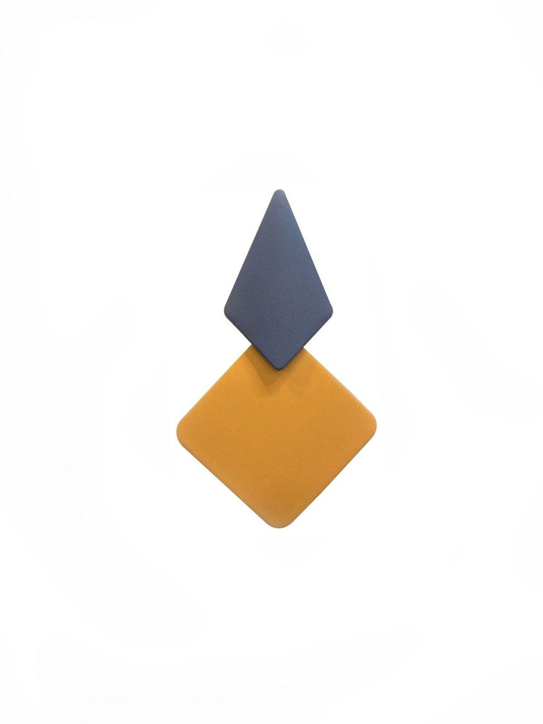 Yellow Geometric Earrings