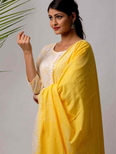 Load image into Gallery viewer, Yellow Print Dupatta