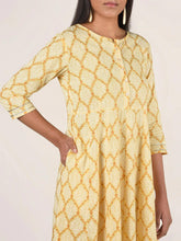 Load image into Gallery viewer, Yellow Printed Anarkali Kurta