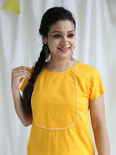 Load image into Gallery viewer, Yellow Solid Kurta Pant Set