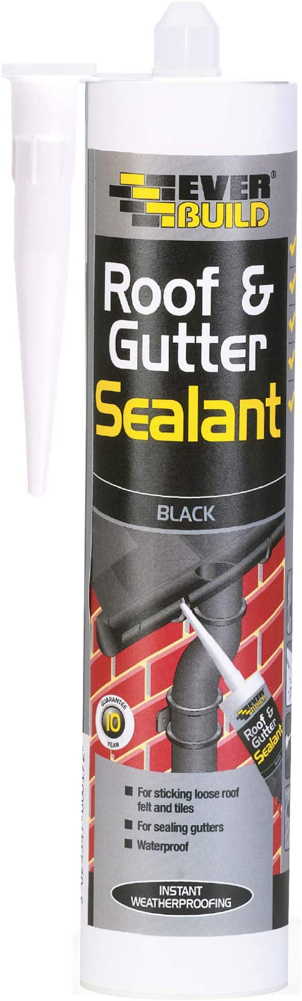 Everbuild Gutter sealant black