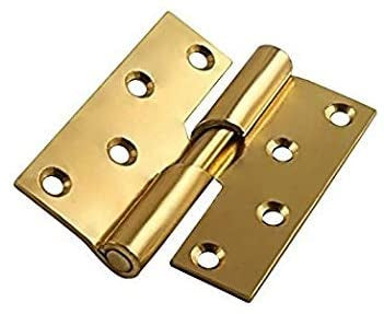 100mm brass Rising Butt Hinges right hand