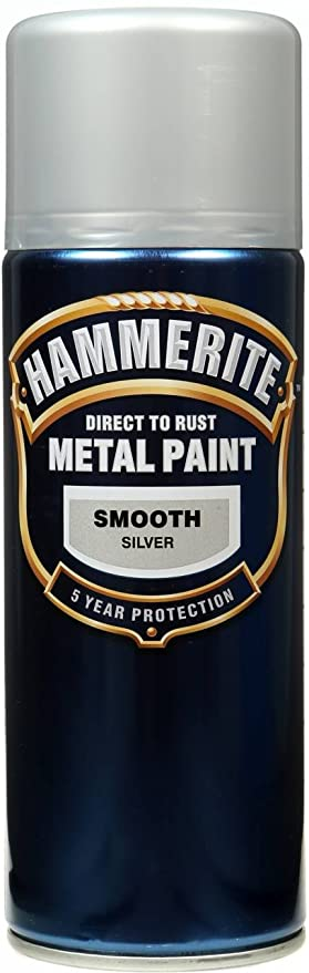 Hammerite aerosol silver smooth spray