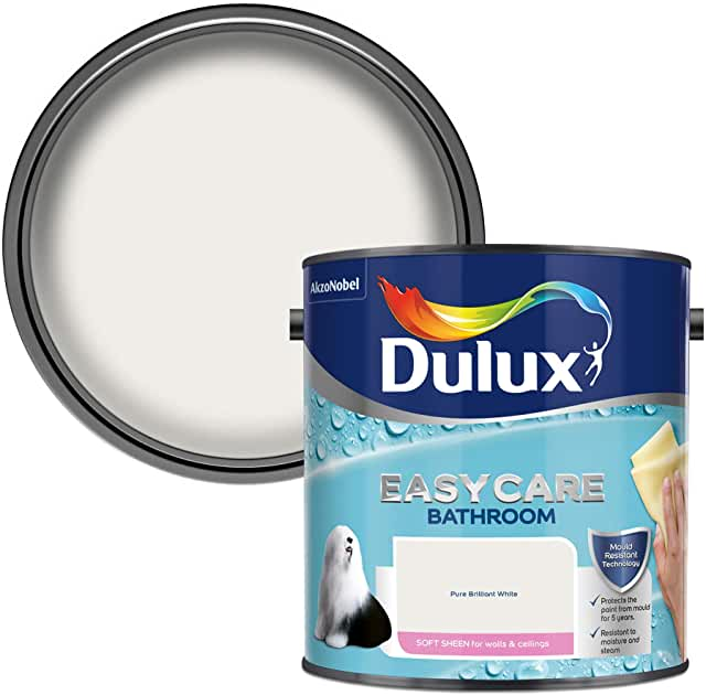 Dulux Bathroom Pure brilliant white Matt 2.5L