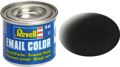 Revel hobby paint black Matt 08