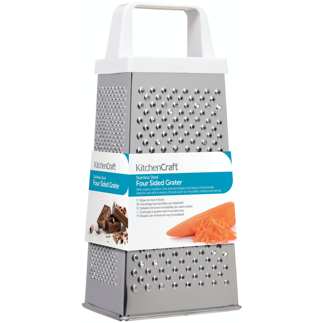 Stainless steel 4 sided grater - large