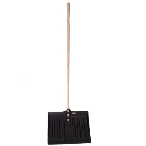 Black snow shovel