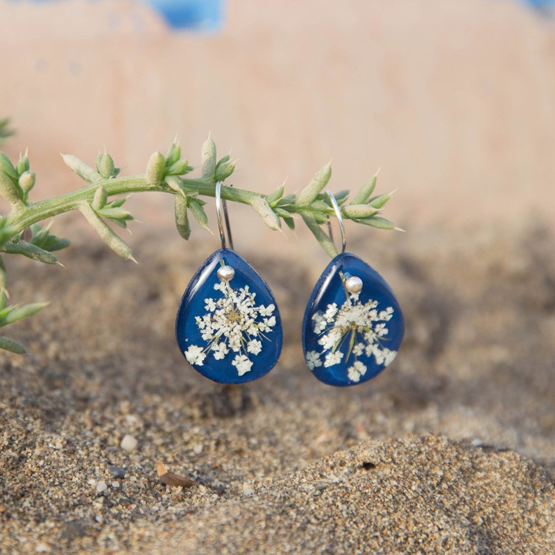 Blue Anise Hook Earrings