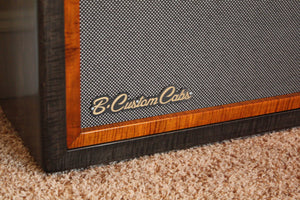 Flame maple custom guitar speaker cabinet