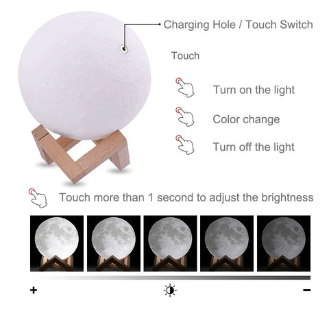 Moon Lamp Brightness Control