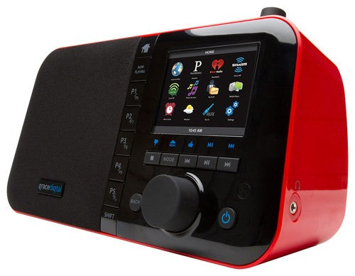 Grace Digital Mondo Elite Internet Radio (Red)