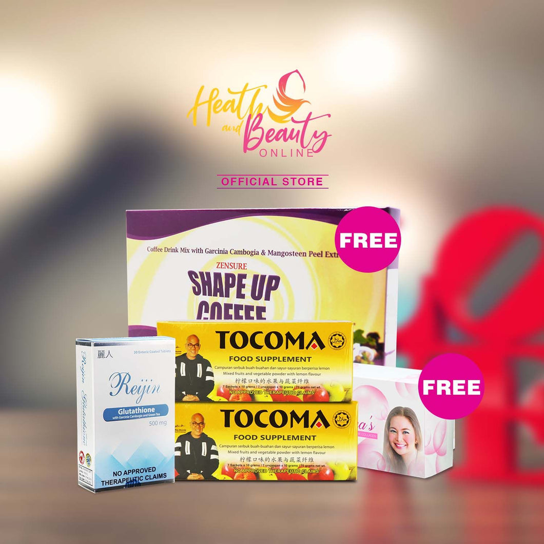 1 Box Reijin Glutathione 2 boxes Tocoma  get Free other Products