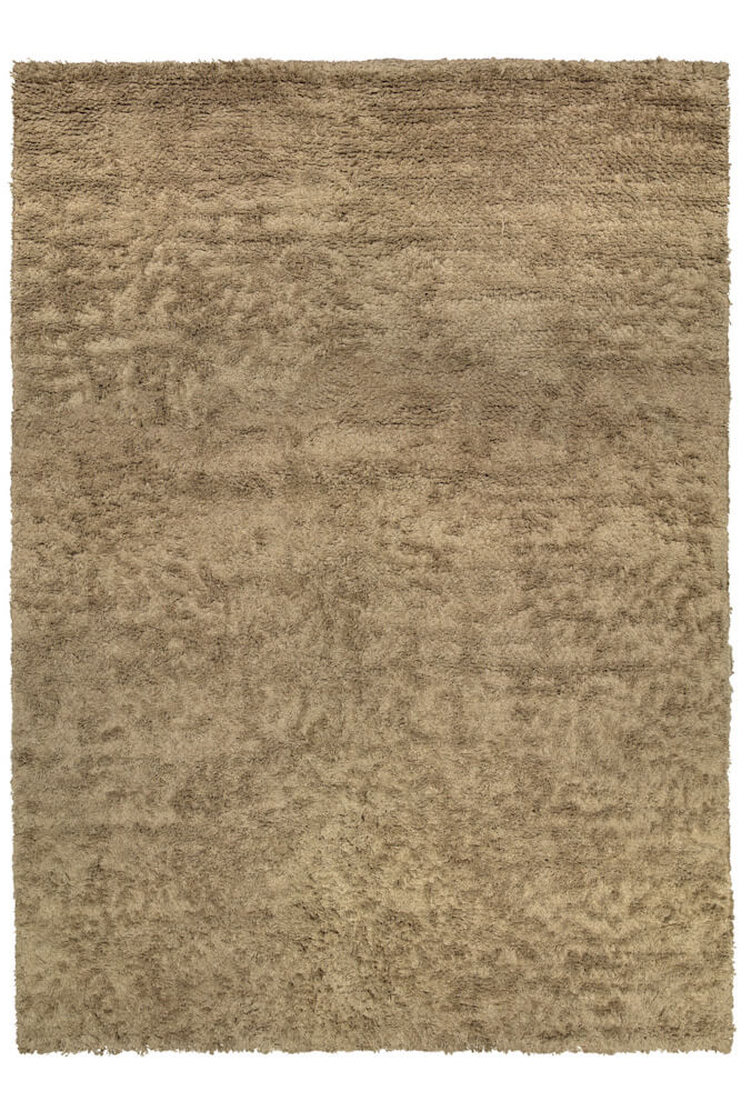 Rosy Brown Long Pile Linen Natural ROOTS LIVING Rug Roots Living