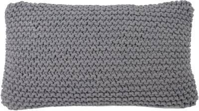Slate Gray Hand knitted cushion grey Goround