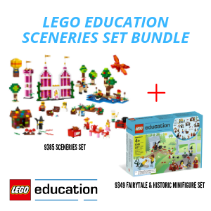 LEGO® Education Sceneries Set   Fairytale and Historic Minifigure Bundle (9349 - 9385)