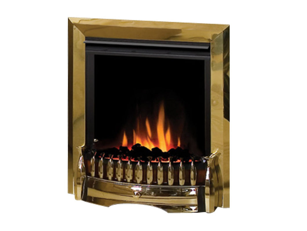 Dimplex Exbury Electric Fire with Remote Control in Brass