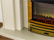 Load image into Gallery viewer, Adam Falmouth Fireplace Suite Stone Effect + Eclipse Electric Fire Brass, 49""