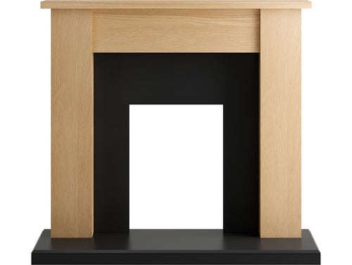 Adam New England Fireplace in Oak and Black, 48 Inch