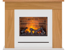 Load image into Gallery viewer, Adam Stockholm Optimyst Fireplace Suite in Oak & Cream, 48 Inch
