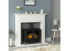 Load image into Gallery viewer, Adam Florence Stove Suite Pure White + Woodhouse Electric Stove Black, 48""