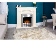 Load image into Gallery viewer, Adam Venice/Devon Fireplace Suite Cream + Colorado Electric Fire Brushed Steel, 39""
